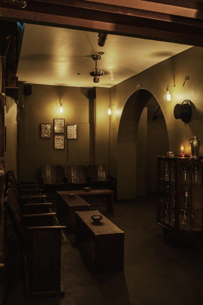 Die Sitzecke in der Kinly Bar in Frankfurt