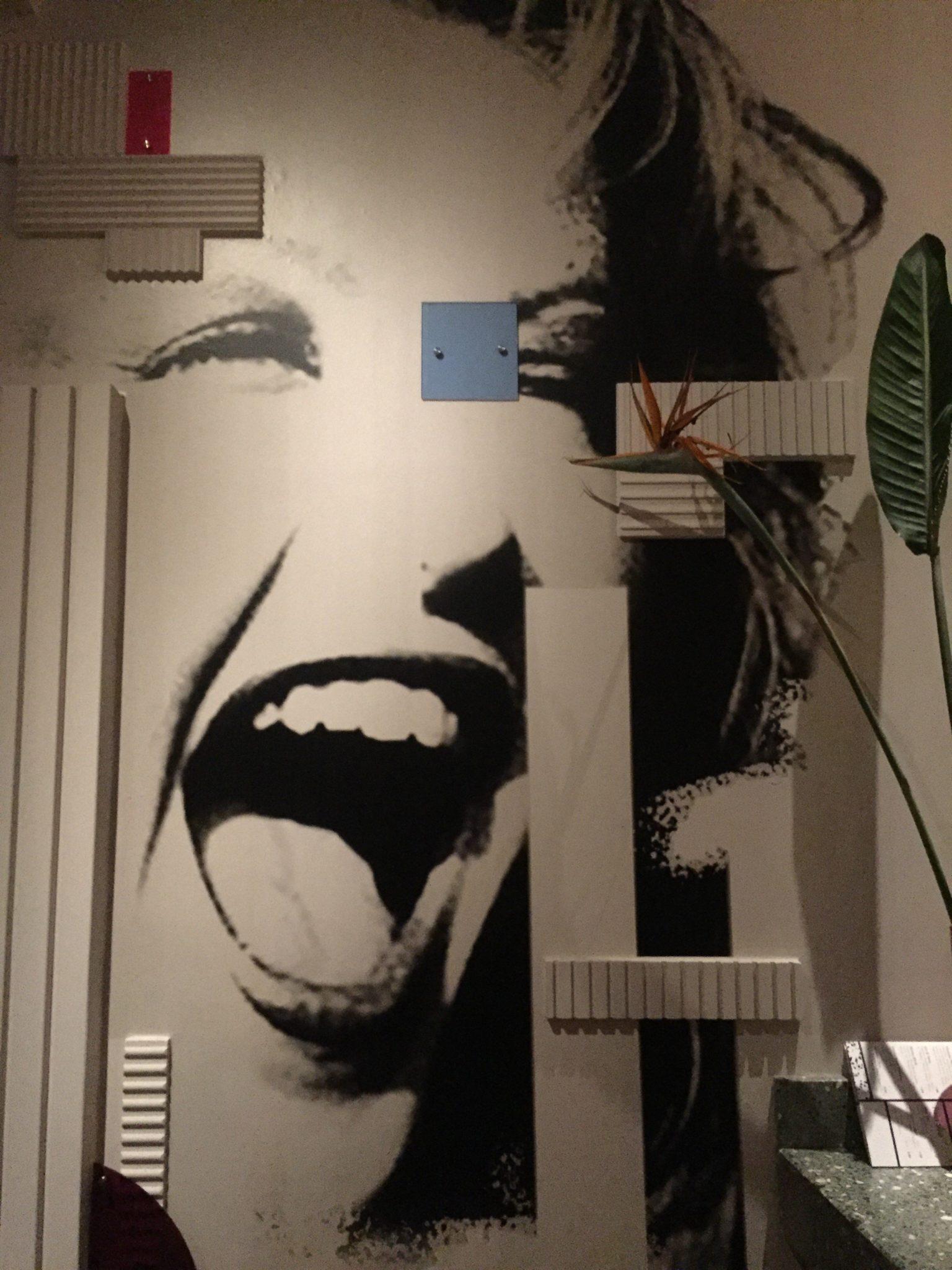 Wandbild in der Pelican Bar in Hamburg