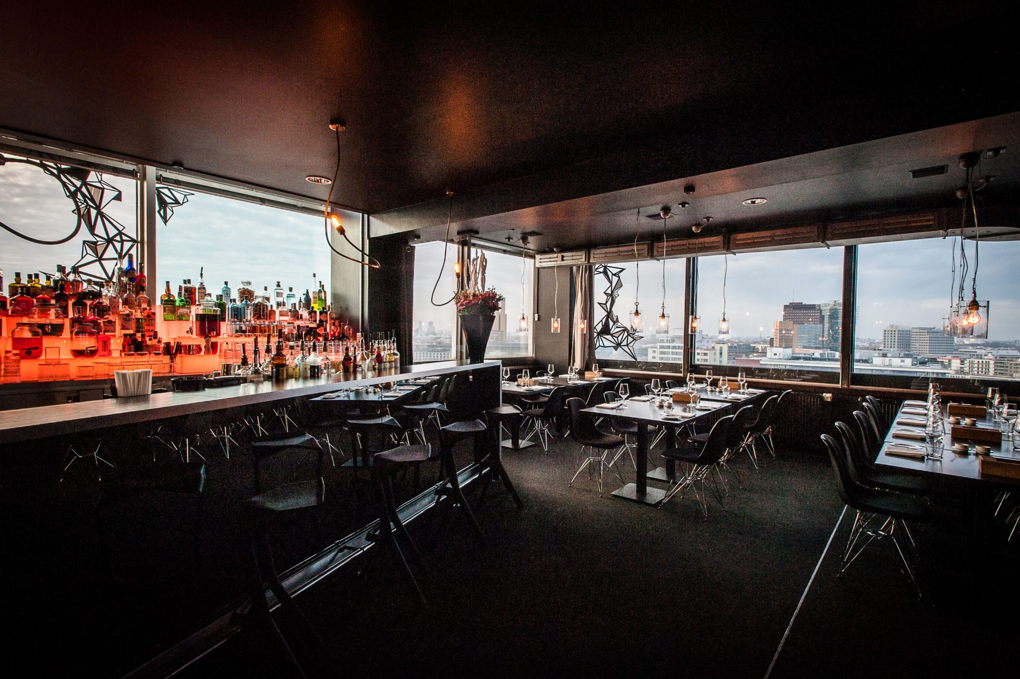 Der Ausblick in der Solar Sky Bar in Berlin