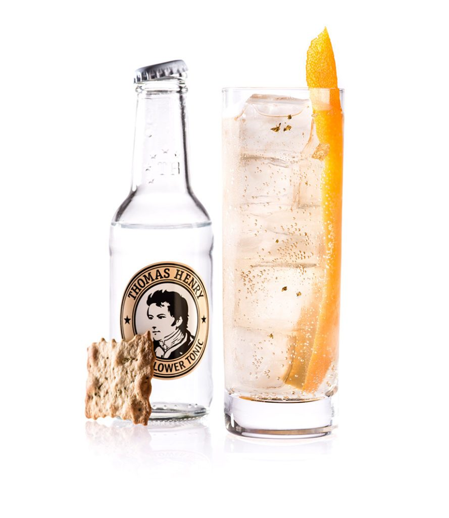 Der Goldrush mit Thomas Henry Elderflower Tonic