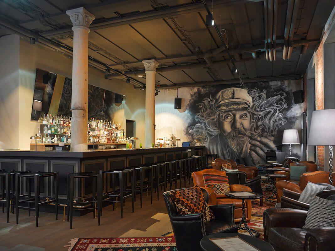 Einblick in die Bar Boilerman in der Hafencity Hamburg