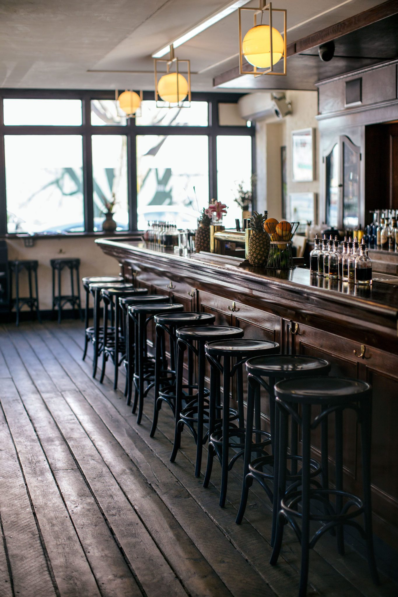einblick in die the grand army bar in new york