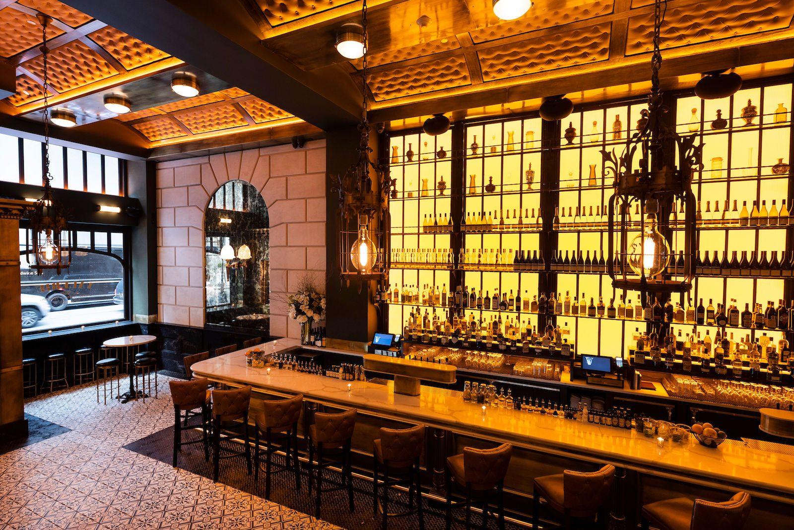 Der Tresen in der Bar Valerie in New York